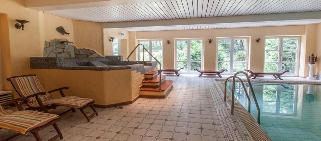 Das Schwimmbad des Historische Krug in Oeversee