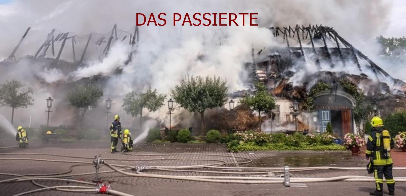 Großfeuer zerstört Historischen Krug in Oeversee